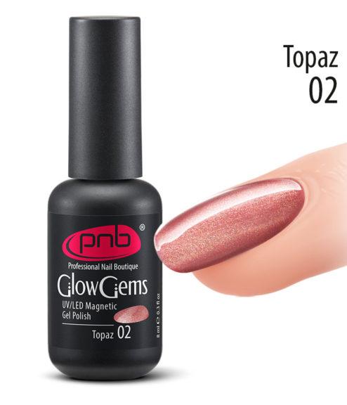 Магнитный гель-лак Glow Gems PNB 02 Topaz 8 мл